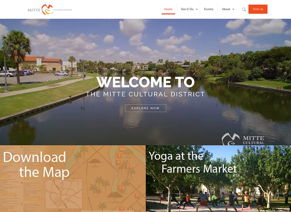 Screenshot of the Mitte Cultural District Website